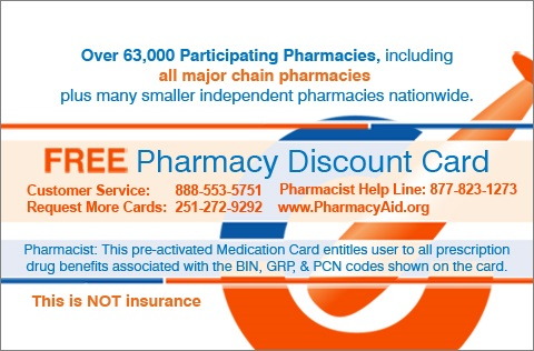 Pharmacy Aid Card Back